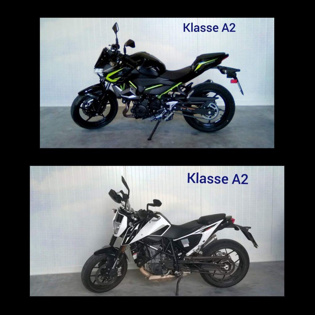 Klasse A2 Motorräder 1